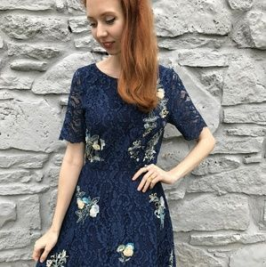 Always Lovely Lace A Line Dress